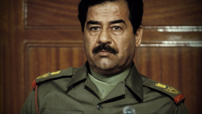 Saddam Hussein, président de la République d'Irak de 1979 à 2003