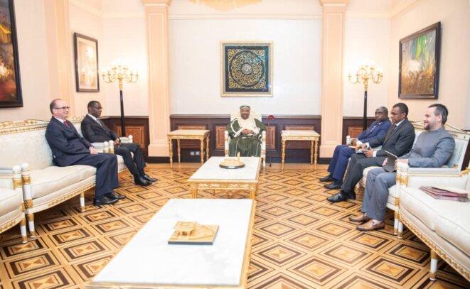 9 MAI 2019 -Libreville - Deux diplomates accrédités au Gabon, reçus par Ali Bongo Ondimba