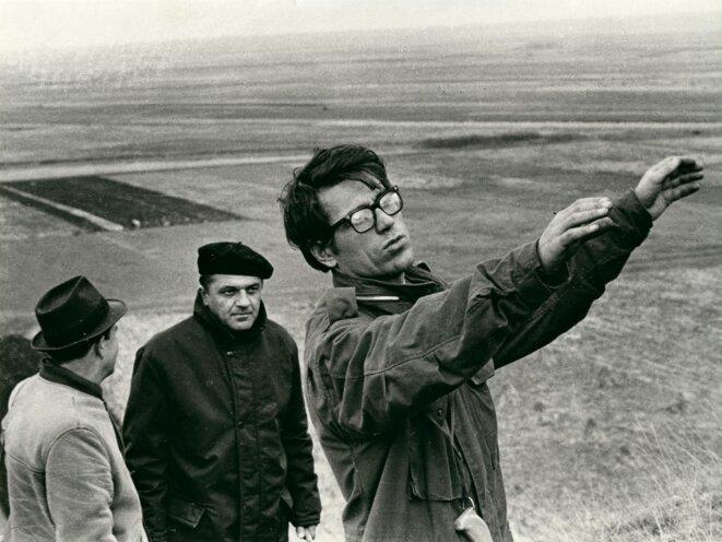 """Želimir Žilnik, sur le tournage de """"Travaux précoces"""", 1968 © Želimir Žilnik"""