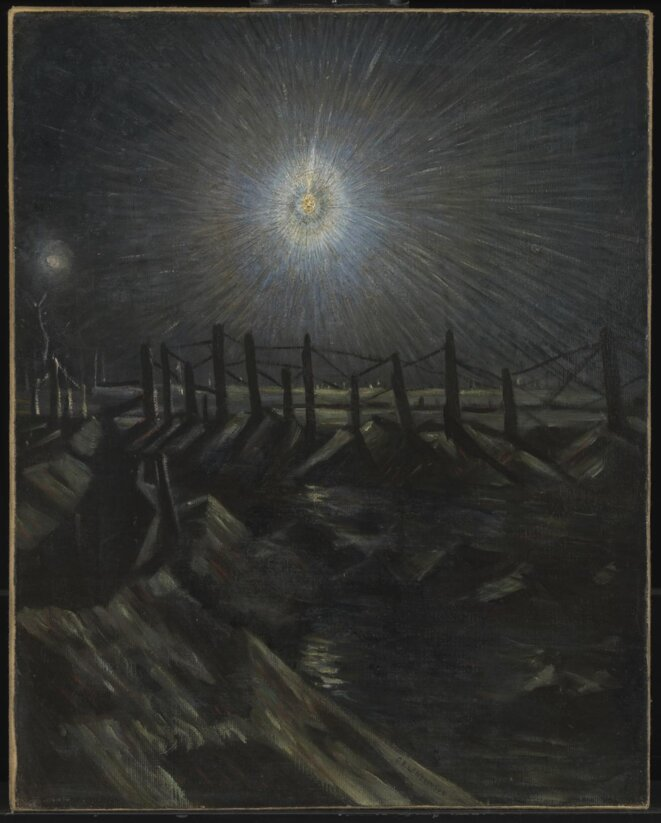 "Christopher Nevinson ""A star Shell"", 1916, License CC-BY-NC-ND3.0 (Unported)"