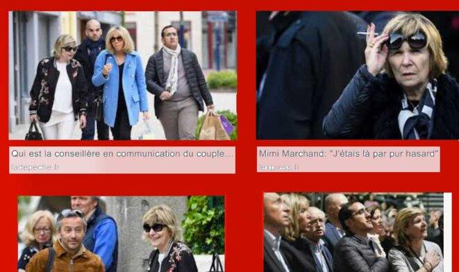 """Mimi"" Marchand, Brigitte Macron, et un joli gratin. @SeargeEngine"