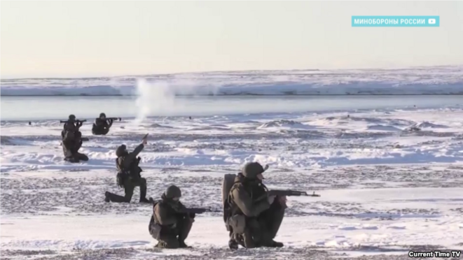 Manœuvres russes dans l'Arctique © currenttime
