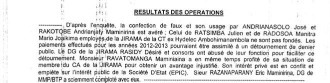 Accusation implacable, on se demande pourquoi n'y avait-il eu ni arrestation ni mandat de dépôt, un procureur avait étouffé l'affaire en se faisant corrompre. Ce gouvernement de A.RAJOELINA est truffé de personnages corrompus, n'avions-nous pas parlé du dossier de financement fonds subsahariens? On pourra creuser un peu plus le dossier FLAMCO, pour en sortir des noms des personnages qui orbitent autour de A.Rajoelina.