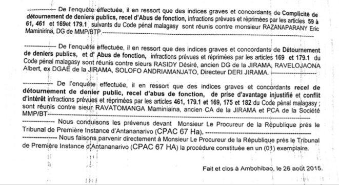 """L'implication de M.Ravatomanga, associé de A. Rajoelina est indéniable. A deux ils ont dépouillé la société d'Etat JIRAMA, elle n'a jamais pu renflouer ce trou de gestion du à cette escroquerie jusqu'à ce jour. La population subit les coupures quotidiennes """"délestage"""" depuis 2009.Tant bien que mal H. Rajaonarimampianina avait tenté redonner vie à la société d'Etat, mais le trous était tellement béant qu'il a du aller vers les energies renouvelables."""