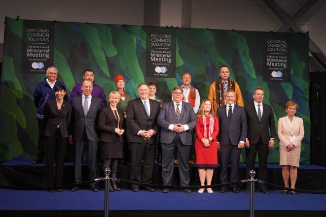 Au sommet ministériel du Conseil de l'Arctique, le 7 mai 2019 à Rovaniemi, en Laponie finlandaise. © MJ