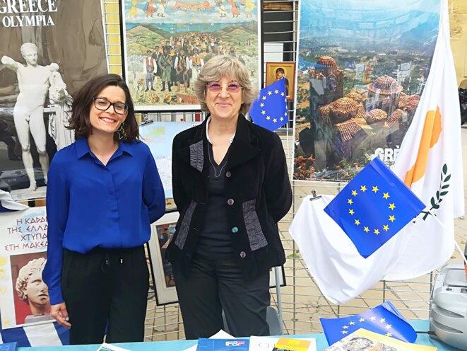 Ces représentantes de la Grèce et de Chypre (Gréco-Chypriote)  ont mis la Méditerranée à l'honneur. © Philippe Léger