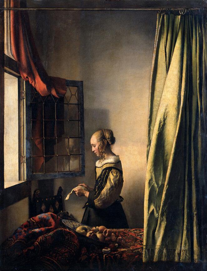 """""""La liseuse à la fenêtre"""" état antérieur et connu."""