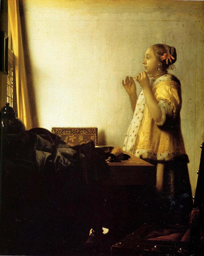 """La """"Femme au collier de perles""""."""