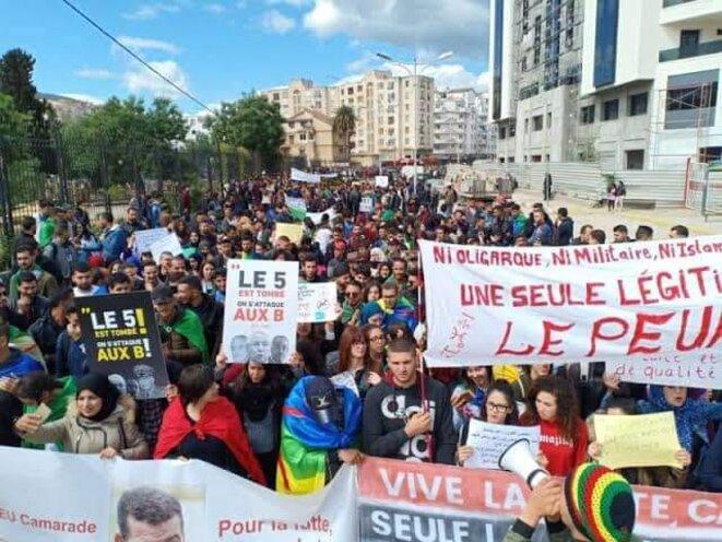 LEs étudiants algériens manifestent © Aidoune AZZEDINE