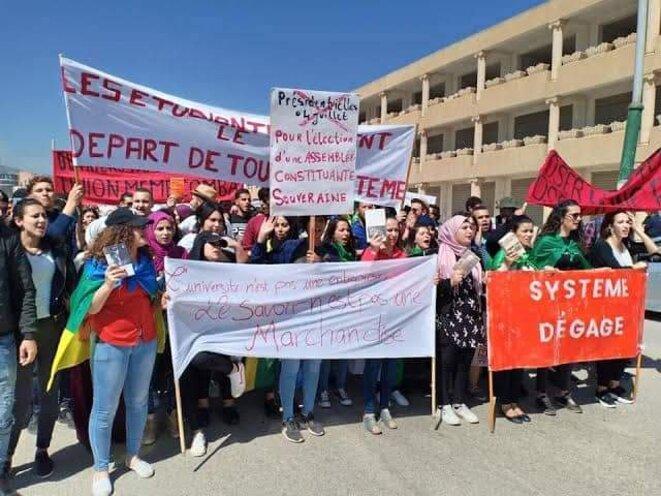 Manifestations des étudiants © Aidoune AZZEDINE