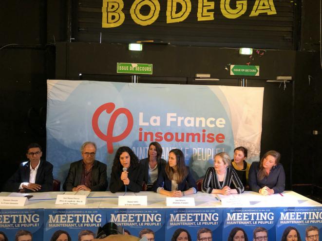 """Au meeting de Marseille, les représentants de la coalition """"Maintenant le peuple"""". © PG"""
