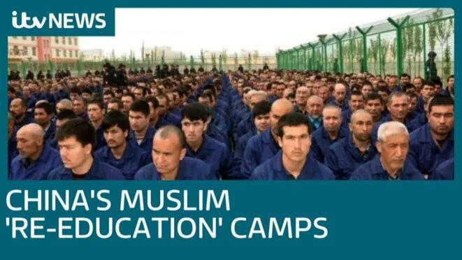 Camps chinois pour Ouïghours dans la ville de Lop, Kachgar