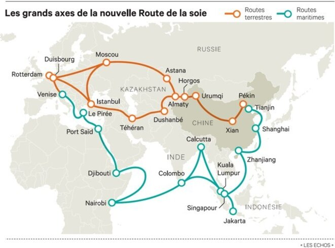 L'importance du Xinjiang au projet chinois Belt and Road.