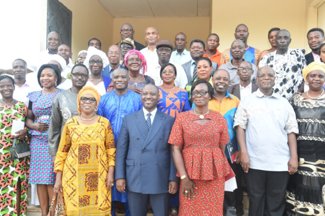 Le Leader Guillaume Soro le 11 mai à Katiola avec les membres du Comité Politique Ivoirien