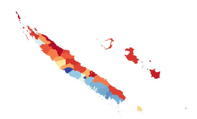 La carte des résultats des élections provinciales du 12 mai. © Mediapart