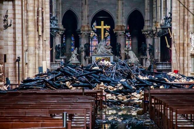Notre-Dame tras el incendio, el 16 de abril de 2019. © Reuters