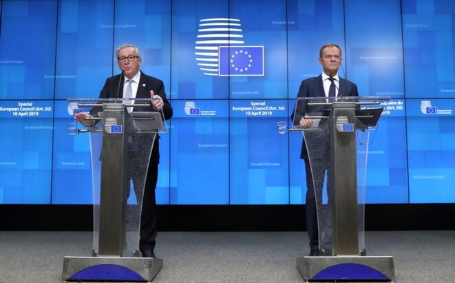 Well-paid: Commission president Jean-Claude Juncker, left, and Donald Tusk, president of the European Council. © Reuters