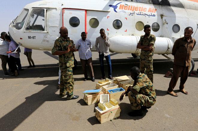Les RSF lors d'une opération de saisie à l'aéroport de Khartoum, le 9 mai 2019 © Reuters