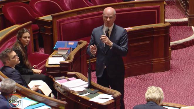 Jean-Michel Blanquer au Sénat. © Dr