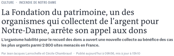 https://www.lemonde.fr/culture/article/2019/05/15/notre-dame-la-fondation-du-patrimoine-sous-le-feu-des-critiques_5462300_3246.html
