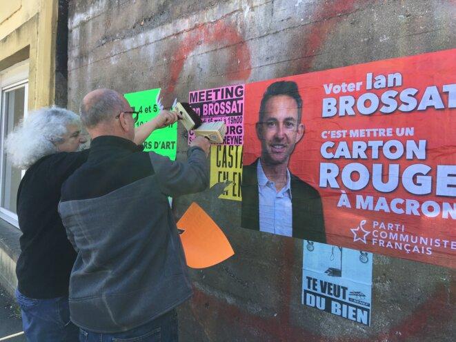 Des militants commmunistes à Cherbourg. © CD