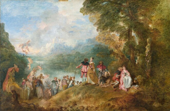 Antoine Watteau, l'embarquement pour Cythère
