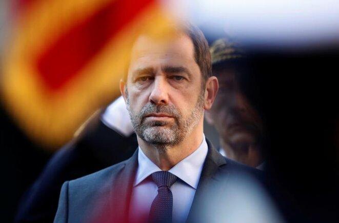 Christophe Castaner à la cérémonie organisée pour la nomination du préfet de Paris Didier Lallement, le 21 mars. © Reuters