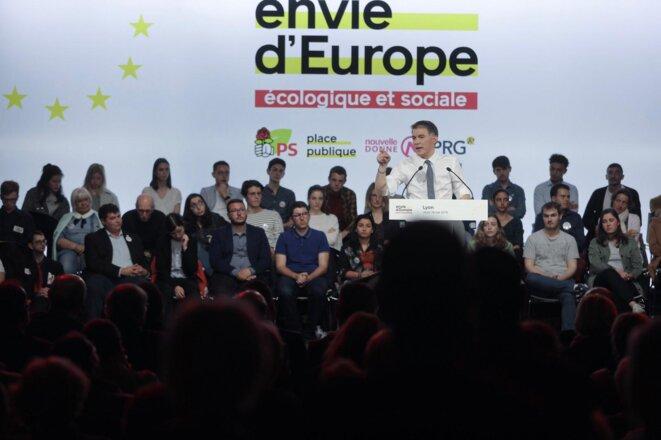 Olivier Faure à Lyon le 15 mai. © Compte Twitter de Place publique