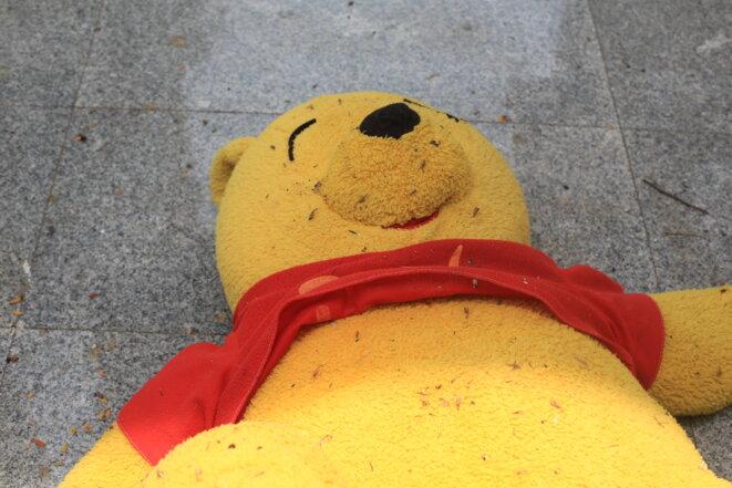 Tiré du film , Patrick le gilet jaune de Levallois © jean claude lénervé