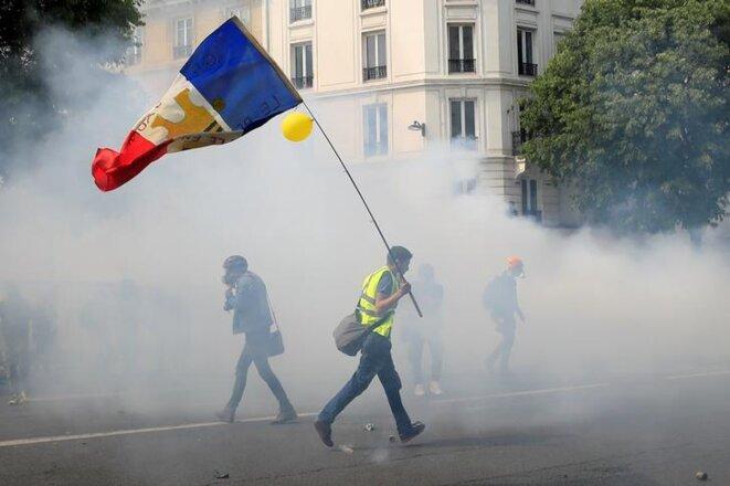Lors de la manifestation du 1er-Mai, le 1er mai 2019, à Paris. © Reuters