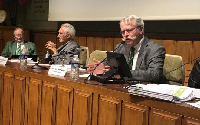 Le président de l'Académie de l'agriculture pour 2019, Jean-Louis Bernard. © DR
