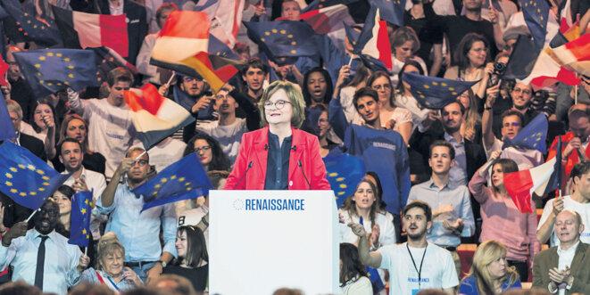 Nathalie Loiseau lors de son premier meeting de campagne