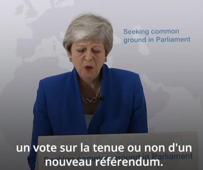Theresa May, le 21 mai.