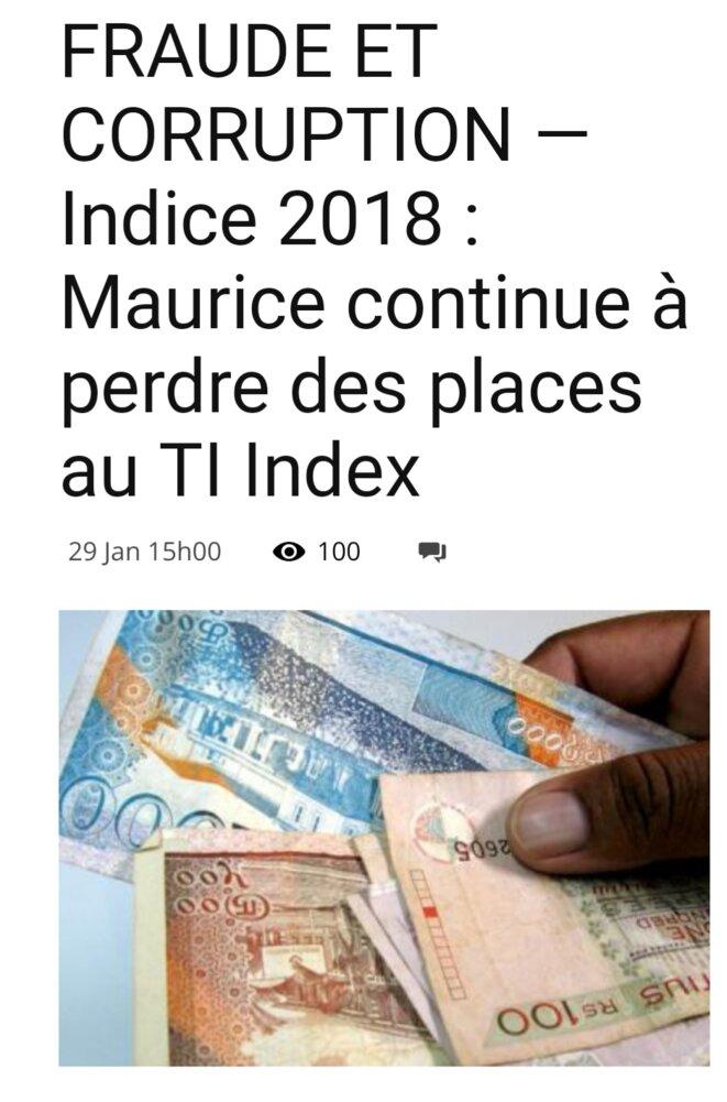 L'île Maurice paye le prix de son silence, une descente de deux points, mais cela a un prix, on s'attend à des affaires louches en vue