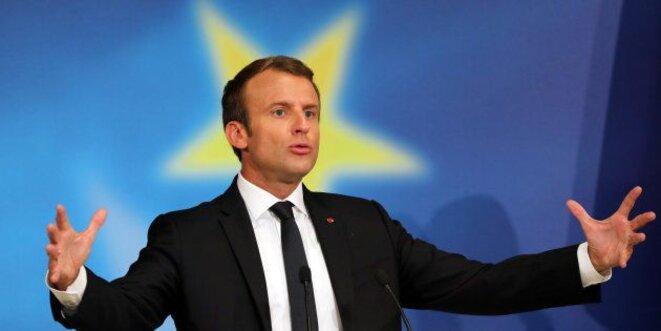 26 septembre 2017, lors du discours sur l'Europe de Macron à la Sorbonne. © Reuters