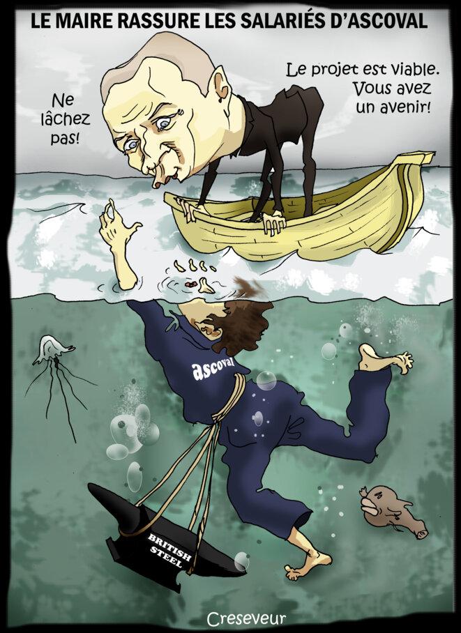 Le dessin du jour (humour en images) - Page 26 Le-maire-rassure-les-ascoval