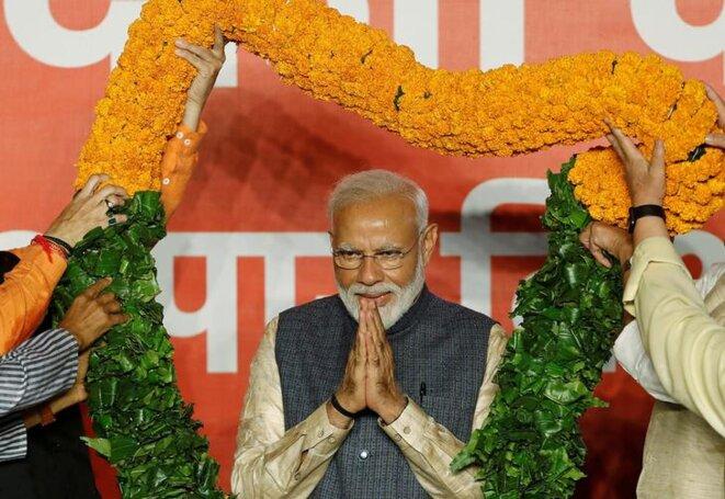 Narendra Modi à New Delhi, le 23 mai 2019. © Reuters