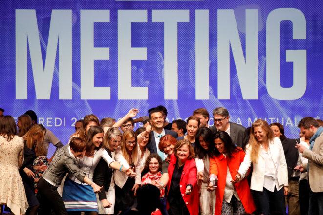 Le dernier meeting de campagne de Nathalie Loiseau, à Paris, le 24 mai 2019. © Reuters