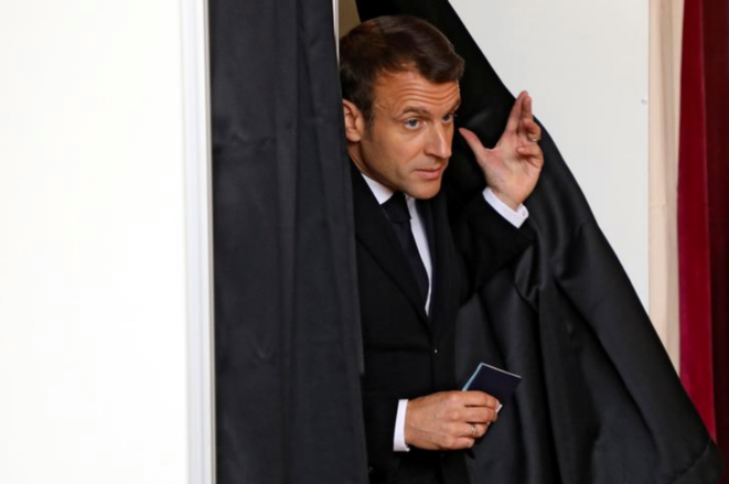 Emmanuel Macron au Touquet (Pas-de-Calais), le 26 mai. © Reuters