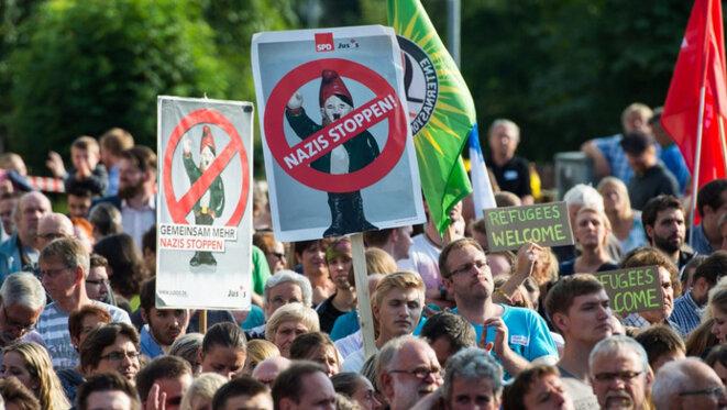 Manif antinazie à Salzhemmendorf en 2015 © 7 sur 7.be