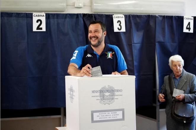 Matteo Salvini, le 26 mai 2019. © Reuters
