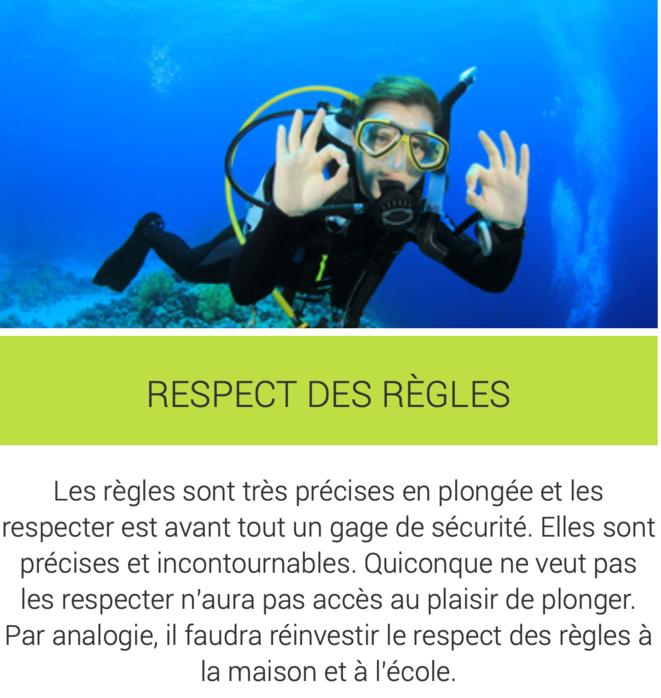 Le respect des règles en plongée © Consult Educ'
