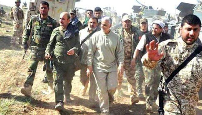 Ghassem Soleimani, chef de la force Qods des pasdaran iraniens en Syrie