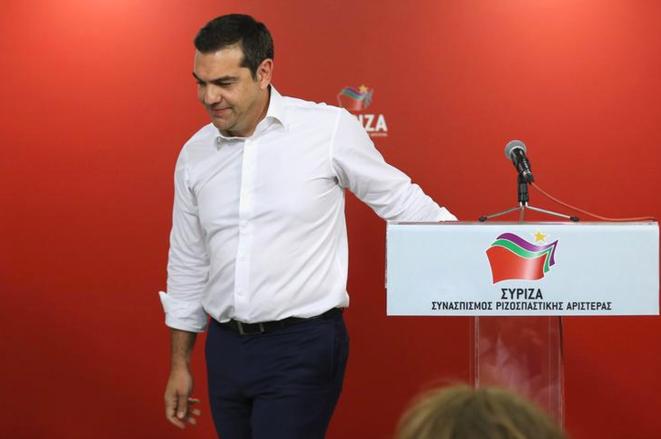 Alexis Tsipras au soir de sa défaite, le 26 mai 2019 © Reuters