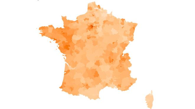 Le vote LREM par circonscriptions. © Mediapart
