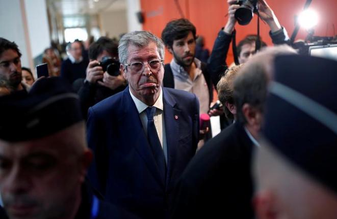 Patrick Balkany, le 14 mai, au tribunal correctionnel de Paris. © Reuters