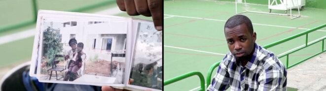 "Joana Hadjithomas & Khalil Joreige, It's all Real, Omar et Younès, 2014. 2 vidéos HD synchronisées, 14 min 50 sec. Exposition ""C'est Beyrouth"", Institut des cultures d'Islam, Paris. 2019 © Joana Hadjithomas & Khalil Joreige"
