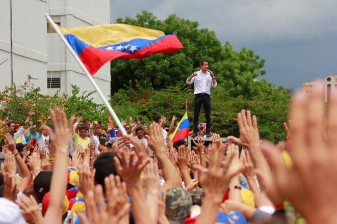 Juan Guaidó, leader de l'opposition vénézuélienne, le 26 mai à Barquisimeto. © Reuters
