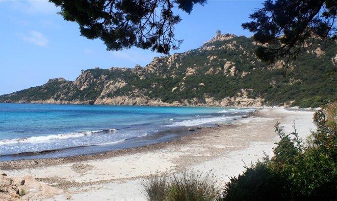 Plage de Roccapina en Corse du sud © Patrice Morel (mai 2019)