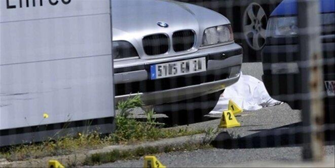 23 avril 2008 le corps de Richard Casanova abattu à Porto-Vecchio © Corse Matin